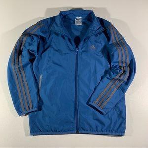 Adidas Boys Blue zip-up windbraker szM.